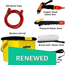 (Renewed) AllExtreme AE-3200 Portable High Pressure Automatic Car/Bike Washer High Quality Water Gun Garden Hose Nozzle Sprayer with Multi Adjustable Pattern Heavy Duty Pistol Convenient Grip Trigger for Showering Dog & Plant Watering Lawn Patio