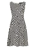 Zibi London Cutabout Stripe Crepe Dress (Black and White, 8)