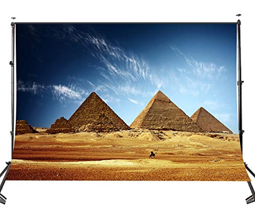 JoneAJ 5X7 Ägypten Hintergrund Pyramiden Hintergrund Porträt Schießen Reise Fotostudio Vedio Requisiten Wallpaper LY025