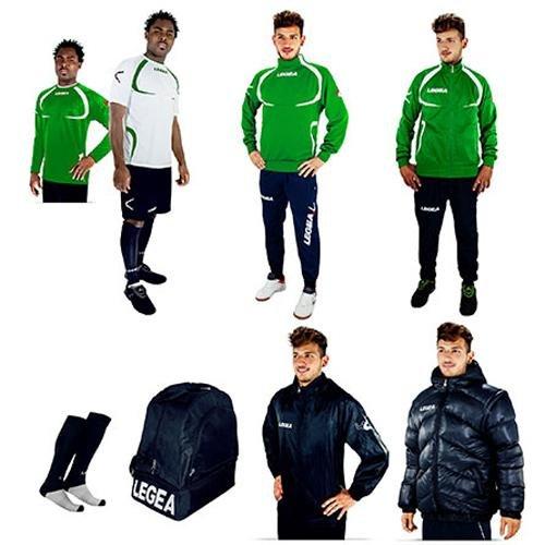 LEGEA Tornado Sportswear Set Weiß/Dunkelblau