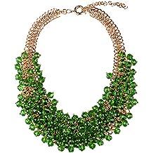 Múltiples Capas Collar Perlas de Imitación Trenza Cadena Ahogador Joyería
