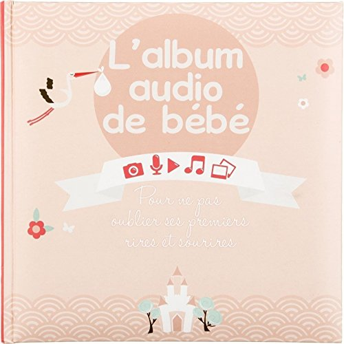2 en 1 : Album de naissance fille + boitier enregistreur - Coloris ROSE Atmosphera