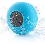 Neuftech Micro usb altavoz Bluetooth 3.0 impermeable sonido estéreo con ventosa para ducha piscina etc,azul