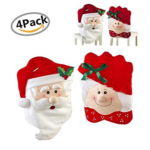 Funda Silla Navidad, Morbuy Decoracion de Navidad 2 Par Cena de Decor...