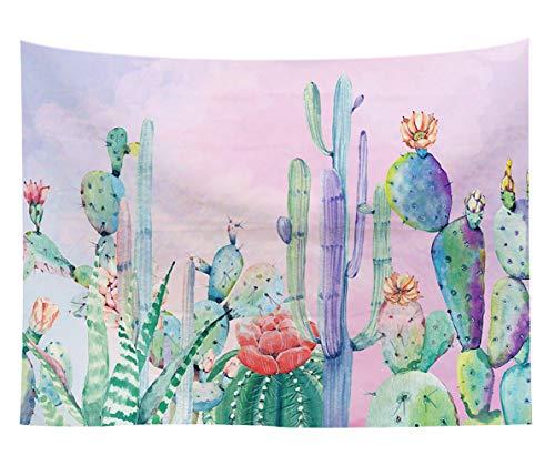 Mehrfarbig Mandala Tapestry Bohemian Wandteppich Wall Hanging Bed Sheet Picnic Beach Sheet Tapestry Yoga Meditation Mat Tischtuch,Hauptteppich-Kaktus 3 150 * 130cm