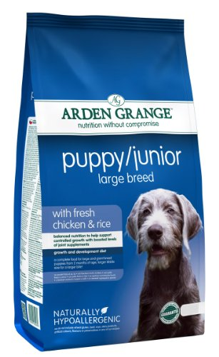 Arden Grange Puppy/Junior Large Breed Dry Dog Food, Chicken, 2 Kg