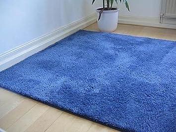 Kinderteppich dunkelblau  Hochflor Shaggy Teppich Palace Blau in 24 Größen: Amazon.de: Küche ...