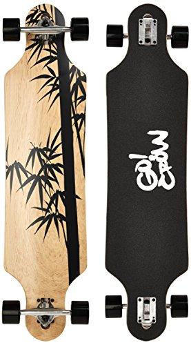 Deluxe Longboard Maxofit Crow No.12, 103 Cm 9 Strati Di Acero Canadese, Drop Through, Azione Fino A Esaurimento Della Merce