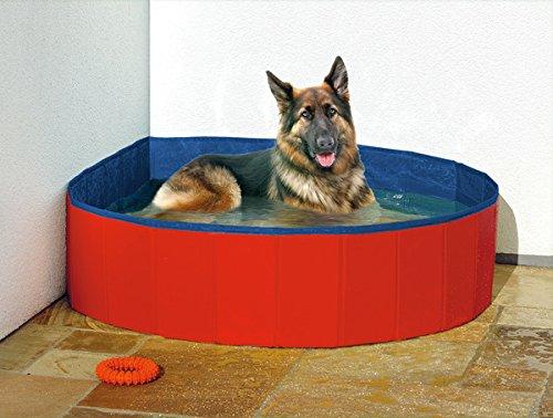 Karlie Hunde-Pool – Ø 160 cm in rot/blau - 3