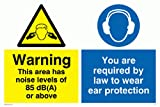 Viking Schilder cp271-a3l-v Achtung dieser Bereich ist Lärm von 85dB (A) oder oben auf, SIE SIND Gesetzlich verpflichtet zu tragen Schutz Zeichen, Vinyl/Aufkleber, 400mm H x 300mm W