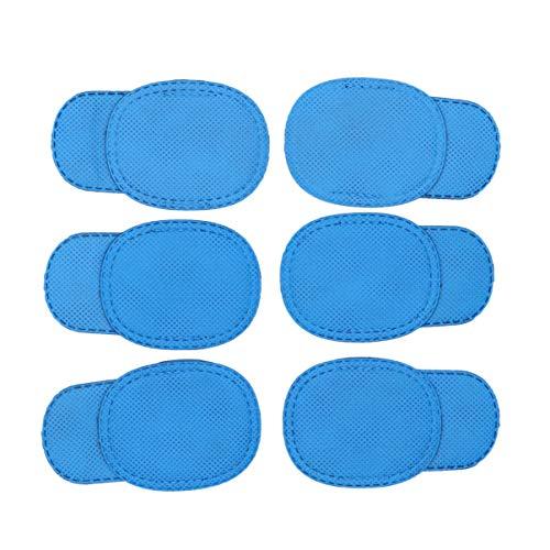 Heallily 12 stücke amblyopie augenklappe für Brillen Kinder augenklappe behandeln faules Auge und Strabismus für Kinder (blau)