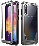 POETIC Galaxy A50 Rugged Clear Case, Full-Body Hybrid