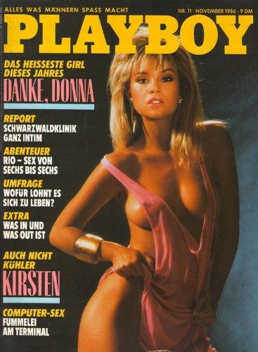 Playboy Magazin November 1986 Zeitschrift Original Deutsche Ausgabe 11/1986 DONNA EDMONDSON