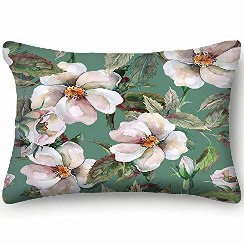 tuyi wild Roses Abstract Flower Abstract Flower Decorative Pillow Cover Soft and Cozy, Standard Size 20