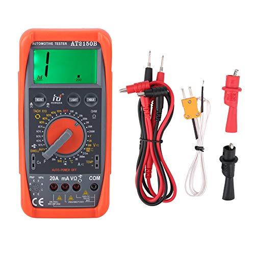 Medidor digital de rpm del tacómetro, medidor de tacómetro automotriz portátil AT2150B/pantalla LCD Multímetro digital