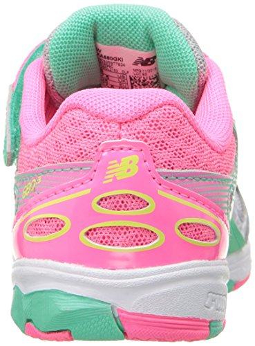 New Balance KA680 Infant Running Shoe (Infant/Toddler) gris/rose