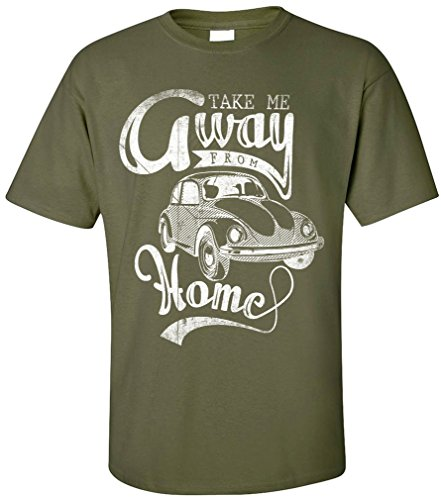 PAPAYANA TAKE-AWAY - Herren T-Shirt - OLD SCHOOL OLDTIMER KULT RETRO CAR AUTO HIPPIE Oliv