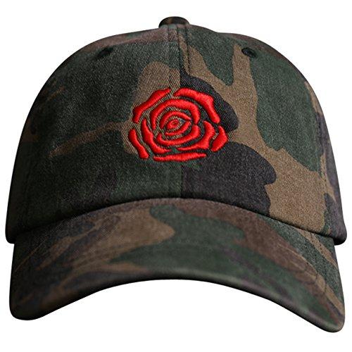 MARQUE NOIRE – ROSE Basecap (camo) - Cap, Baseball Caps, Herren Damen Unisex (Brad Rüstung)