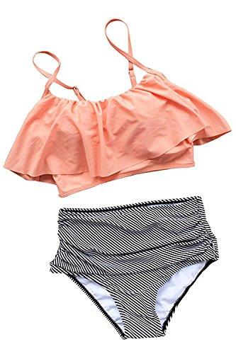 Summer Mae Damen Bikini-Set mit Volant Vintage Badeanzug