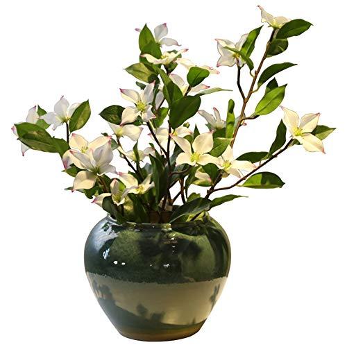 Künstliche Blumen, Keramik-Kontrastfläche Vase Living Room Coffee Table Dining Table Decoration Flower Flower Insert
