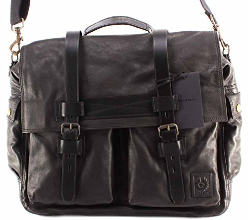 Belstaff Borsa Tracolla Uomo 75610375 Colonial Messenger Bag Man Black Leather