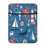 Snoogg Set Of 4 Nautical Cards 14 Inch Laptop Case Flip Sleeve Bag Computer Cover