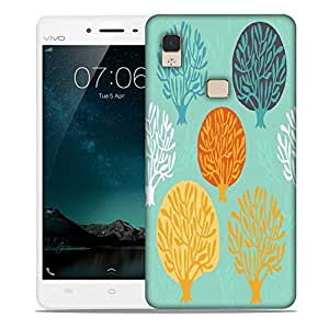 Snoogg Trees In Blue Designer Protective Phone Back Case Cover For Vivo V3 Max
