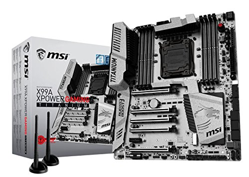 MSI X99A Xpower Gaming Titanium Intel X99 LGA 2011-v3 ATX - Motherboards (DDR4-SDRAM, DIMM, 2133,2200,2400,2600,2666,2800,2933,3000,3200,3333,3400,3466 MHz, Quad, 128 GB, Intel)