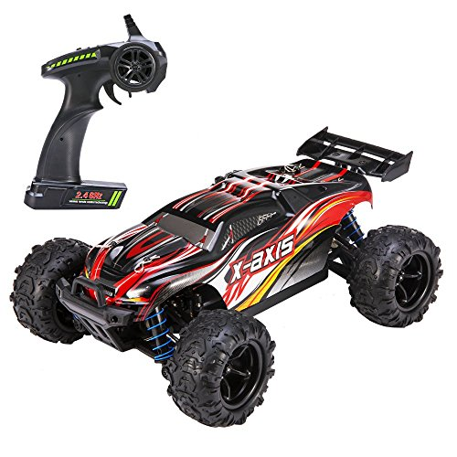 VASCARS WJL00038 Maßstab 1:18 Flexibles 4WD RC Auto, Ready-to-Run Racing Buggy für Kinder & Erwachsene, 2,4 GHz Funkgesteuertes Fahrzeug mit 45 km/h Hochgeschwindigkeit, Rot*