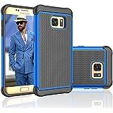 Coque Samsung Galaxy S7 [Absorbant les Chocs] [ Anti-Rayures Back] Eutekcoo Coque Housse Etui Ultra Slim Fit pour Samsung Galaxy S7/S VII/ G930 GS7-Bleu Foncé+Noir