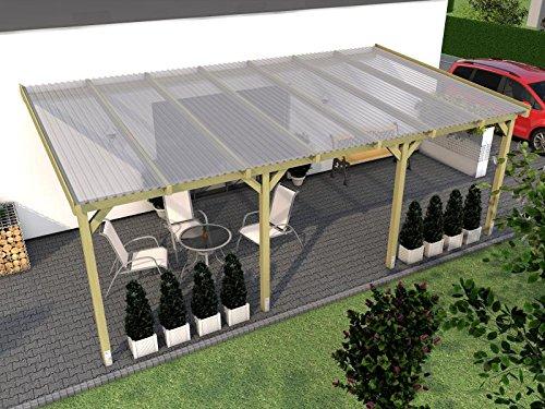Terrassenüberdachung BORKUM VI 600x350cm Wintergarten Überdachung