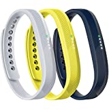 Fitbit Flex 2 Accessory 3 Piece Pack, Sport, Small, 0.12 Pound