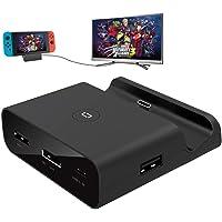 FONCBIEN Dock di Ricarica per Nintendo Switch,Adattatore USB C a HDMI Supporto modalità TV e modalità Console,Supporta…
