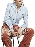 Scotch & Soda Maison Damen Hemd Embroidered Button Shirt, Mehrfarbig (Combo A 17), X-Large