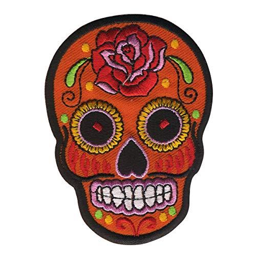 Freak Scene parche - Calavera Mexico Rosa - naranja-rojo