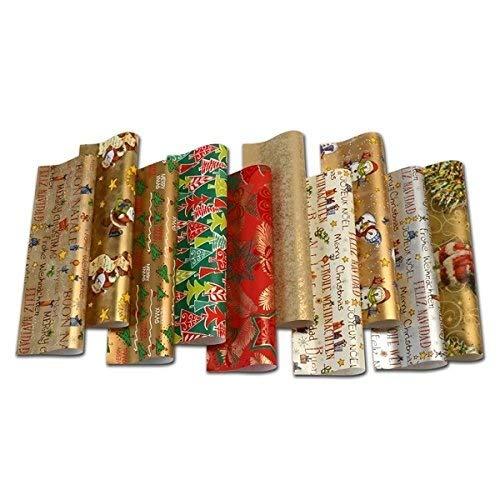 Ausgewählte Serien schönes Geschenkpapier Weihnachten, 10 Rollen a 2m (Serie 3, 10 Rollen)