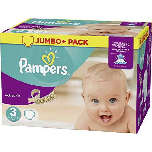 Pampers Active Fit Couches Taille 3Essential Pack 120par paquet
