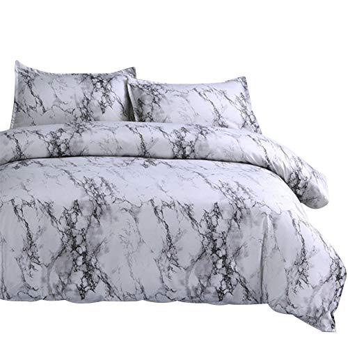 JujubeZAO Bettwäsche-Set, Marmorierung, Einzelbett, King-Size-Bett, Bettdeckenbezug und Kissenbezug, für Zuhause King -