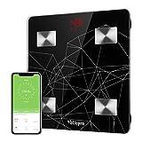 Pèse Personne Impédancemètre, Vellepro Balance Pèse Personne Connecté Bluetooth Électronique Digital Balance...