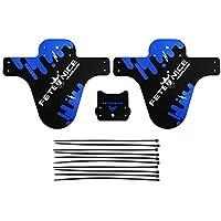 """Funda de protección para guardabarros de bici contra salpicaduras Mud Guard Plus 26"""" 650B 27,5"""" 29"""" MTB (2 piezas), azul"""