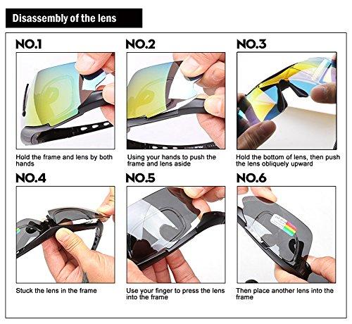 Duco Radsportbrille Outdoor Sonnenbrille für Sportler polarisierte 5 austauschbare Gläser UV400 SP0868 - 8