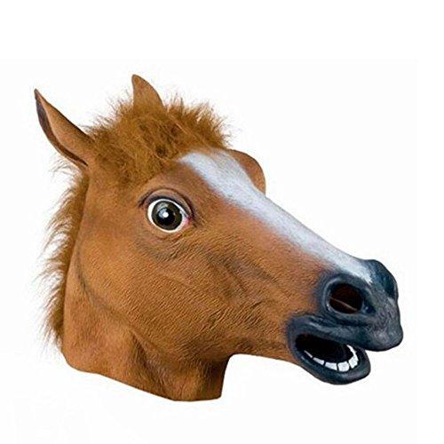 pf maske kopfbedeckungen,braune pferd kopf (Braune Pferde Maske)