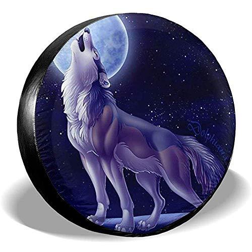 LAURE Tire Cover Copriruota Wolf Moon Copriruota di scorta Univers