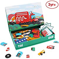 ANIKI TOYS Magnetic Puzzle Activity Book Aged 3-7 Educational Game Jigsaw Toy - Transport