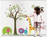 UberLyfe Animals Cute Nursery Wall Sticker Size 4 (Wall Covering Area: 95cm x 130cm) - WS-000454