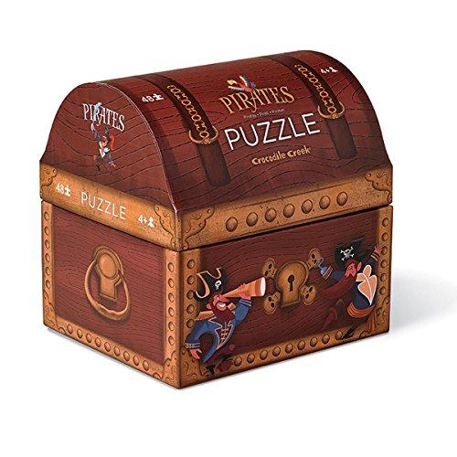 Cocodrile Creek - Caja puzzle 48pzs cofre tesoro, talla mediana