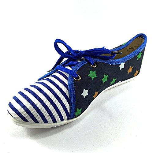 Dreamrax Women's Blue Canvas Casual Shoes