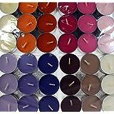 Velas Esenciales - Velas Para Aromaterapia con Aceites Esenciales Puros - Pack 90 velas 5 aromas.