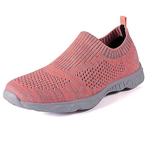 QANSI Chaussures de basket, de sport aquatique et de plage Water Shoes Réspirante avec lacet Séchage Rapide pour femme