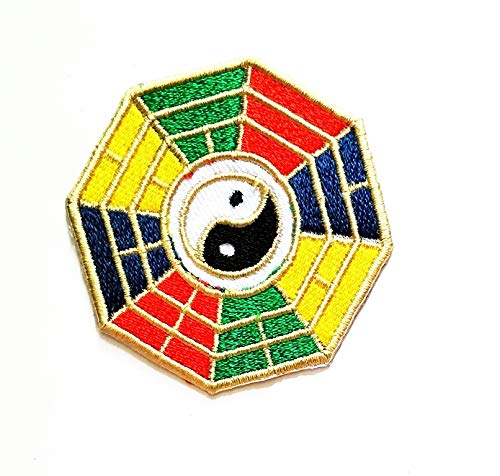 Rainbow Yin Yang Japanischer China Schmetterling Lucky Cartoon Kinder Studenten Patch Weste/Jacke Biker Biker Biker Tattoo Jacke T-Shirt Aufnäher Aufbügler Aufbügler